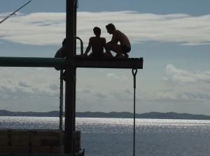 boys on jetty