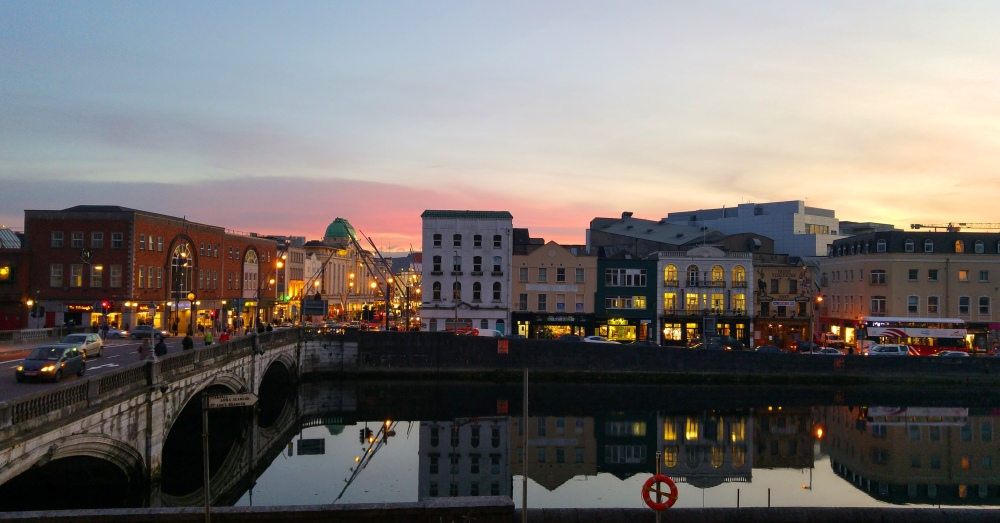 Sunset over Cork