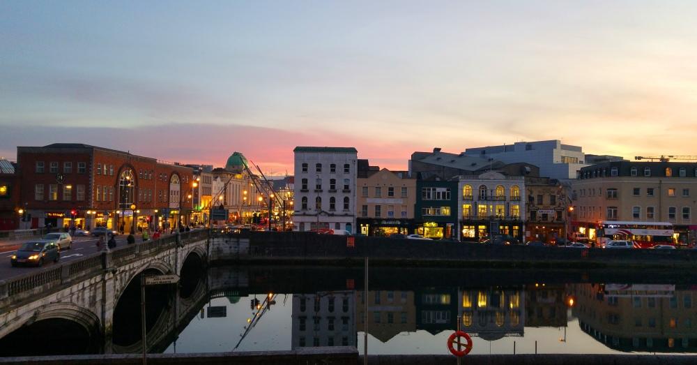 Sunset over Cork